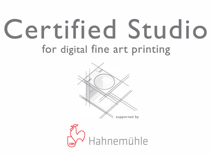 Certified Studio for digital fine art printing by Hahnemuehle