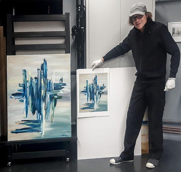 Reproduktion einer Malerei: Original und Edition