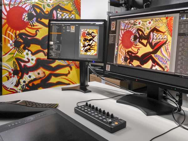 Reproduktion einer Malerei: kalibrierter Workflow, Betrachtung unter Normlicht D50