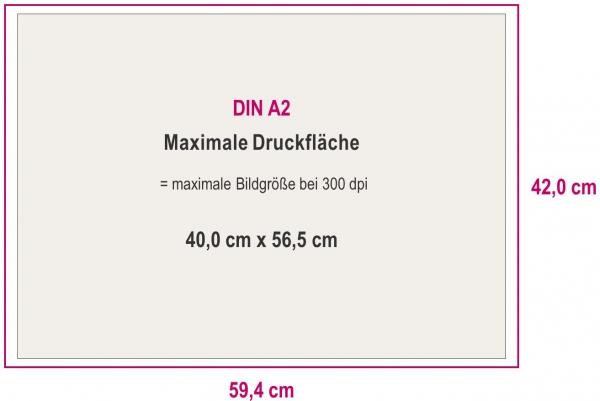 Maximale Druckfläche DIN A2